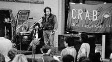 Jim Green as Executive Director of the Downtown Eastside Residents Association fighting for CRAB Park in 1985. (Kris Olds for The Globe and Mail/Kris Olds for The Globe and Mail)