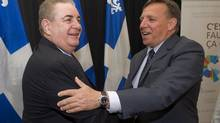 CAQ Leader François Legault jumped to his star candidate's defence, saying that Jacques Duchesneau is willing to go back to the commission of inquiry into construction-industry corruption on Monday to answer more questions. (Graham Hughes/The Canadian Press)