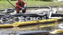 An Enbridge pipeline spill in Michigan in July, 2010 (Paul Sancya/AP)
