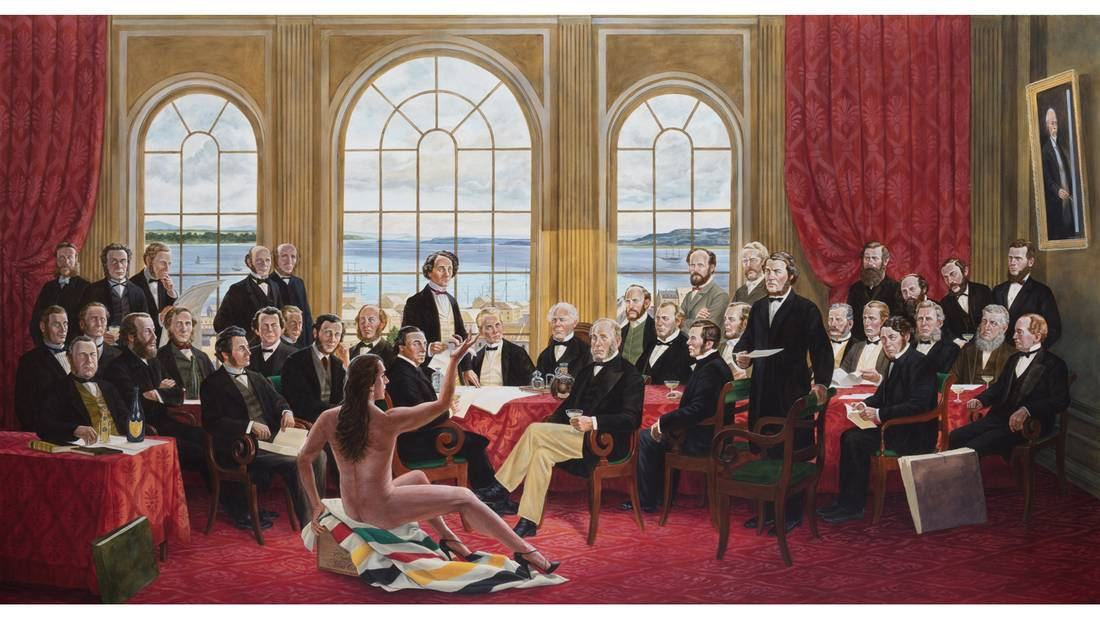 Kent Monkman's 2016 painting The Daddies.