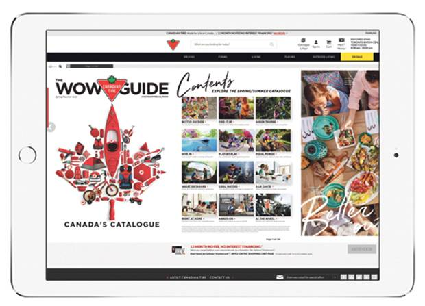 The Canadian Tire WOW Guide relaunch.
