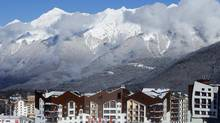 A general view of the accommodation at the athletes village in Rosa Khutor as preparations continue for the 2014 Sochi Winter Olympics February 1, 2014. (MIKE BLAKE/REUTERS)