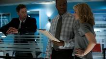 Brendan Penny (detective Brian Lucas), Roger Cross (staff sergeant Boyd Bloom) and Kristin Lehman (detective Angie Flynn) star in Motive, which debuts Sunday on CTV following the Super Bowl. (Carole Segal)