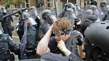 Anti-G20-summit protesters clash with police in downtown Toronto on 25, 2010. (Kevin Van Paassen/Kevin Van Paassen/The Globe and Mail)