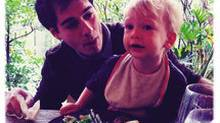 Joel Stein with his son (Cassandra Barry)