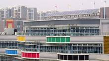 SolarWall panels used in the Olympic village in Beijing in 2008.