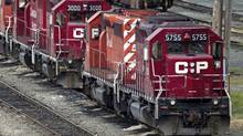 Canadian Pacific was among our list of large Canadian stocks with downside risk. (DARRYL DYCK/THE CANADIAN PRESS)