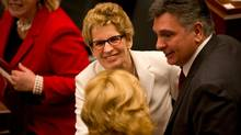 Ontario Premier Kathleen Wynne is seen following the Speech from the Throne at Queen's Park in Toronto, Ont. Tuesday, February 19, 2013. (Kevin Van Paassen/The Globe and Mail)