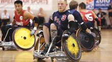 "Mark Zupan is one of the highly competitive quadriplegic rugby players competing in the Paralympic Games, in the documentary ""Murderball."" (Handout)"