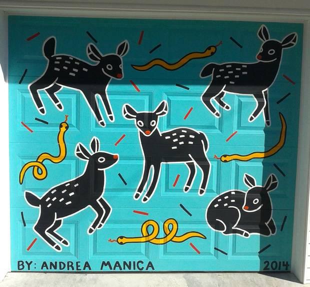 Deer Door, painted by Andrea Manica in downtown Toronto.