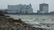Ontario Power Generation's Darlington Nuclear Generating Station in the municipality of Clarington, Ontario. Here is a view across the shore of Lake Ontario of the plant from April 2, 2003. (Louie Palu)