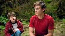 Charlie Tahan, left, and Zac Efron in Charlie St. Cloud. (Diyah Pera)