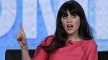 """Actress Zooey Deschanel, star of the comedy """"New Girl,"""" takes part in a panel session at the FOX Winter TCA Press Tour in Pasadena, California January 8, 2012. (Jonathan Alcorn / REUTERS/Jonathan Alcorn / REUTERS)"""