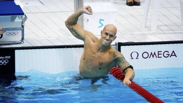 With no medals in Athens or Beijing, Canada's Brent Hayden capped off his career with a bronze in the 100-metre freestyle.