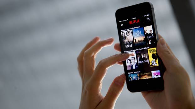 The Netflix app for iOS is seen in this file photo