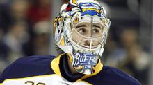 Buffalo Sabres goalie Ryan Miller says more penalties will discourage skaters from running goaltenders. Charles LeClaire-USPRESSWIRE (Charles LeClaire/USPRESSWIRE)