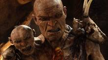 In Jack the Giant Slayer, the leader of the giants has two heads, the larger voiced by Bill Nighy, the smaller voiced by John Kassir. (AP)