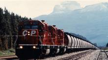 A CP train near Lake Louise, Alta.