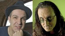 Dave Bidini, left, and Geddy Lee.