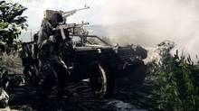 A screenshot from Battlefield 3, a multiplatform military shooter from Swedish studio DICE (EA)