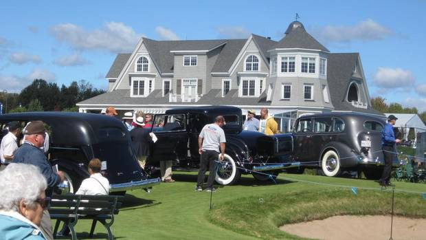Vintage car fans showed up in droves at the Cobble Beach Golf Resort for the concours. (Darren McGee/The Globe and Mail)