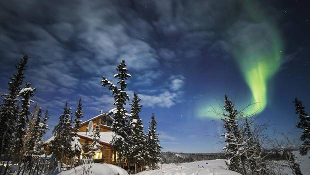Blachford Lake Lodge can have some beautiful views of auroras.