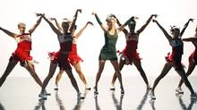 Heather Morris, centre, performs in Glee. (BETH DUBBER/NYT)