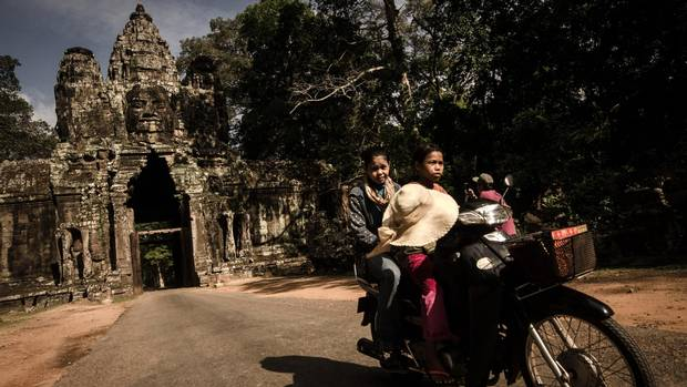 One of the many gates to Angkor Wat, inside which Dave Walker's body was found in 2014.