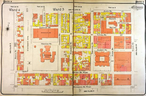 Goad's Atlas of the City of Toronto from 1913.