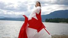 American-born Kaisa McCandless is becoming a Canadian citizen at a ceremony Saturday on the Musqueam reserve. (Jeff Vinnick for The Globe and Mail/Jeff Vinnick for The Globe and Mail)