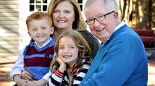 Maureen McTeer and Joe Clark with their grandchildren Charles and Alexandra Schella. (Photo by Michelle Valberg)