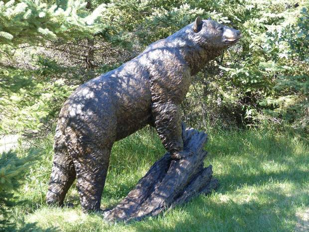 This bronze sculpture, called Monumental Black Bear by Peter Sawatzky, is available for $170,000 at Toronto's Loch Gallery.