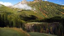The Cliffhanger, also know as the 6th hole, at Greywolf Golf Course in Panorama, B.C.