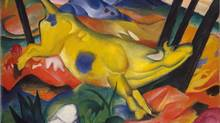 Detail of Franz Marc' Yellow Cow (Gelbe Kuh), 1911. (Marc)