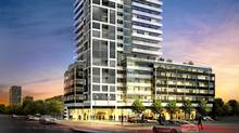 The Rise condominium building planned for the southeast corner of St. Clair and Bathurst Street, Toronto, designed by Toronto architect Enzo Corazza, founding partner in the firm of Graziani + Corazza, for Reserve Properties Ltd. (Reserve Properties Ltd./Reserve Properties Ltd.)