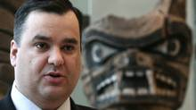 Minister of Canadian Heritage and Official Languages James Moore at the Museum of Anthropology at the University of British Columbia in Vancouver, B.C., on Monday December 20, 2010 (Darryl Dyck/ The Canadian Press/Darryl Dyck/ The Canadian Press)