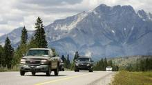 Take the Trans Canada Highway through Banff National Park and keep going east. (Jeff McIntosh/The Canadian Press)
