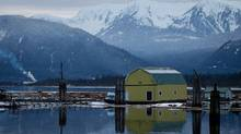 The Douglas Channel at dusk in Kitimat, B.C., last January. (Darryl Dyck/The Canadian Press)