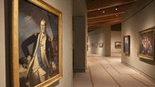 A portrait of George Washington, painted by Charles Willson Peale, is on display Crystal Bridges Museum of American Art in Bentonville, Ark. (Danny Johnston/AP)