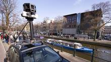 A Google Street View camera fastened on top of a car in Amsterdam on March 19, 2009. (TOUSSAINT KLUITERS/AFP/Getty Images)