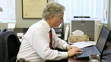 David Goldbloom works in his office at CAMH in downtown Toronto. (Charla Jones/Charla Jones/The Globe and Mail)