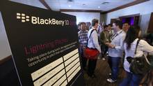 Developers flocked to Waterloo, Ont. on Thursday to preview RIM's next-generation smartphone and pitch their app ideas. Go to tgam.ca/Dgpq for more pictures from BlackBerry Jam. (Deborah Baic/The Globe and Mail)