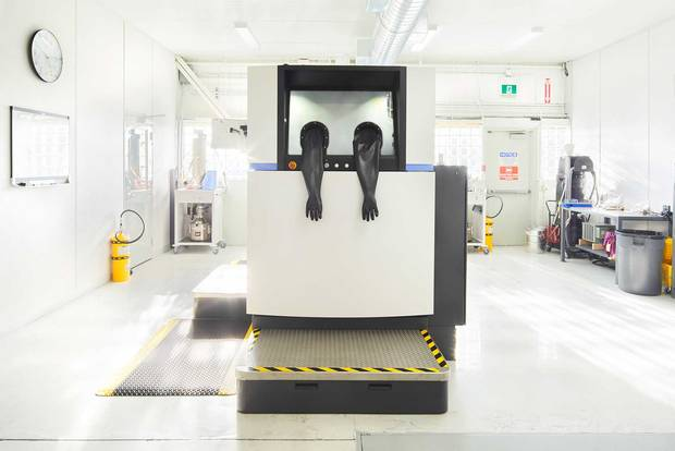 The largest 3-D printer in North America to use tool steel.