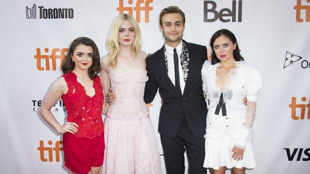 Maisie Williams, left, Elle Fanning, Douglas Booth and Bel Powley attend a premiere for Mary Shelley on Day 3 of the Toronto International Film Festival at Roy Thomson Hall on Saturday, Sept. 9, 2017, in Toronto. (Photo by Arthur Mola/Invision/AP)