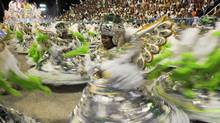 Sambe school Mocidade Independente compete during Rio's famed Carnival, at the Sambodrome. (ANTONIO SCORZA/AFP/Getty Images/ANTONIO SCORZA/AFP/Getty Images)