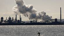 The U.S. Steel Canada plant, formerly Stelco, in Hamilton. If Lakeside is taken over, it will will continue a years-long trend that has seen virtually all major Canadian steel companies swept up. (MIKE CASSESE/REUTERS)