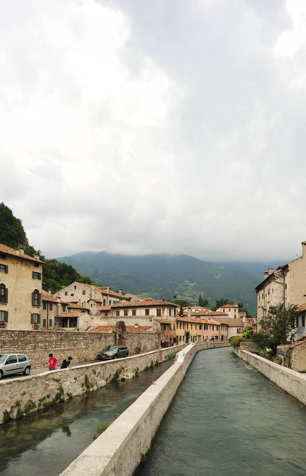 The Castel Vecchio stands in the town of Treviso, halfway between Venice and Conegliano, at the eastern edge of the Strada del Prosecco, Italy's oldest wine route, through the hills of Veneto.