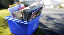 Critics say the new policy gives control of recycling to corporations run primarily from Toronto. (John Lehmann/The Globe and Mail)