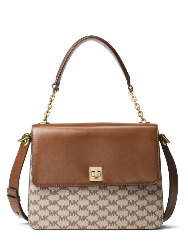 A logoed bag from Michael Kors Studio.