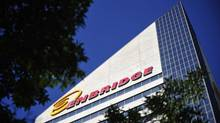 The Enbridge tower is pictured on Jasper Avenue in Edmonton on Aug. 4, 2012. (DAN RIEDLHUBER/REUTERS)